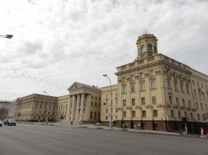 The imposing KGB building on Prospekt Nezavisimosti
