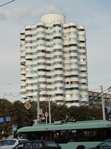 Soviet-era apartment block