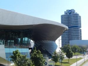 The global BMW headquarters in Munich
