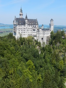 The dramatic setting of Neuschwanstein Castle in Bavaria