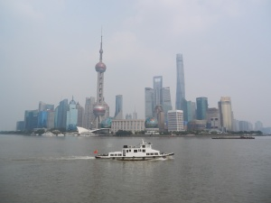 The Pudong skyline of Shanghai