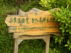 Leave the grass alone!