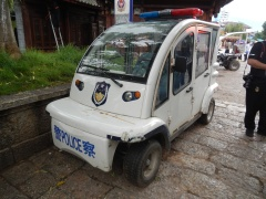 Not the most advanced police car in China!