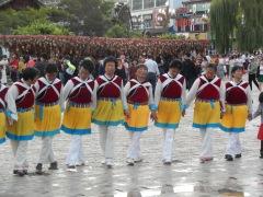 Dancing ladies in Lijiang