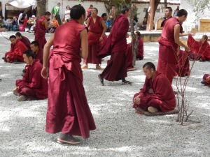 Monks debating at Lhasa's Sera Monastery