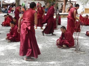 Monks debating at Lhasa's Sera Monastery