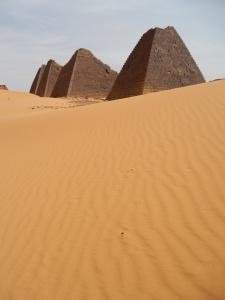It's sandy in the desert!
