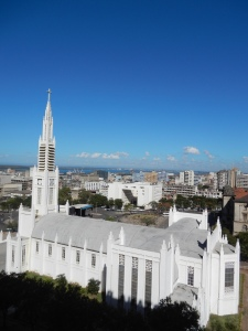 Maputo's cathedral viewed from my hotel