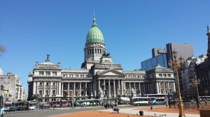 Palace of the Argentine National Congress by day